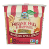 Bakery on Main Oats and Happiness Oatmeal Cup - Cranberry Apple Almond - Case of 12 - 1.9 oz.. HGR 2195535