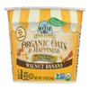 Bakery on Main Oats and Happiness Oatmeal Cup - Walnut Banana - Case of 12 - 1.9 oz.. HGR 2195550