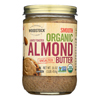 Organic Almond Butter - Lightly Toasted - Unsalted - 16 oz..
