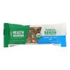 Health Warrior Pumpkin Seed Bar - Honey Sea Salt - Case of 12 - 1.23 oz.. HGR 2261766