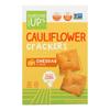 Cauliflower Crackers - Cheddar - Case of 6 - 4 oz..