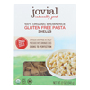 Jovial Organic Brown Rice Shells - Case of 12 - 12 oz. HGR 2288322