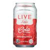 Live Soda Soda Cola Probiotic - Case of 4-6/12 fl oz.. HGR 2324143