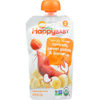 snacks: Happy Baby - Baby Food - Organic - Simple Combos - Stage 2 - Apricots Sweet Potato and Bananas - 3.5 oz - Case of 16