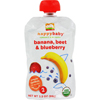 snacks: Happy Baby - Organic Baby Food - Stage 2 - Banana Beets and Blueberry - Case of 16 - 3.5 oz