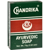 Chandrika Soap Ayurvedic Herbal and Vegetable Oil Soap - 2.64 oz - Case of 10 HGR 0759407