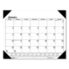 Clean and Green: Recycled Workstation-Size One-Color Monthly Desk Pad Calendar, 18 1/2 x 13, 2019