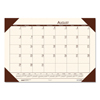 Clean and Green: Recycled EcoTones Academic Desk Pad Calendar, 18.5x13, Brown Corners, 2019-2020