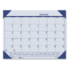 Clean and Green: Recycled EcoTones Ocean Blue Monthly Desk Pad Calendar, 22 x 17, 2019