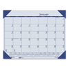 House Of Doolittle Recycled EcoTones Ocean Blue Monthly Desk Pad Calendar, 18.5 x 13, 2021 HOD 124640