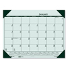 Clean and Green: Recycled EcoTones Woodland Green Monthly Desk Pad Calendar, 22 x 17, 2019