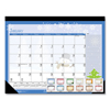 Clean and Green: 100% Recycled Seasonal Desk Pad Calendar, 22 x 17, Illustrated Holiday, 2019