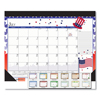 House Of Doolittle House of Doolittle 100% Recycled Seasonal Academic Desk Pad Calendar HOD 1395