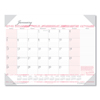 Clean and Green: Recycled Breast Cancer Awareness Monthly Desk Pad Calendar, 18 1/2 x 13, 2019