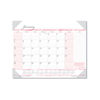 Clean and Green: Recycled Breast Cancer Awareness Monthly Desk Pad Calendar, 22 x 17, 2019
