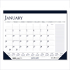Ring Panel Link Filters Economy: Recycled Two-Color Monthly Desk Calendar w/Large Notes Section, 18 1/2 x13, 2019