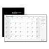 Appointment Books Planners Weekly Monthly Planners: House of Doolittle™ 100% Recycled Ruled 14-Month Planner with Stitched Leatherette Cover