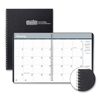 calendars: Two-Year Monthly Hard Cover Planner, 8 1/2 x 11, Black, 2019-2020