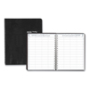 Ring Panel Link Filters Economy: Eight-Person Group Practice Daily Appointment Book, 8 1/2 x 11, Black, 2019