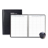 Ring Panel Link Filters Economy: Executive Hardcover 4-Person Group Practice Appt. Book, 8 1/2 x 11, Black, 2019