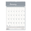 Ring Panel Link Filters Economy: Recycled Bar Harbor Wirebound Monthly Wall Calendar, 15 1/2 x 22, 2019