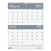 House of Doolittle House of Doolittle™ Bar Harbor 100% Recycled Two-Months-per-Page Wirebound Wall Calendar HOD 337