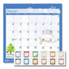 Ring Panel Link Filters Economy: 100% Recycled Seasonal Wall Calendar, 12 x 12, Blue, 2019