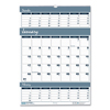 House Of Doolittle House of Doolittle™ Bar Harbor 100% Recycled Wirebound Three-Months-per-Page Wall Calendar HOD 342