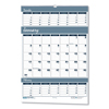 House Of Doolittle House of Doolittle™ Bar Harbor 100% Recycled Wirebound Three-Months-per-Page Wall Calendar HOD 343