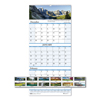Clean and Green: Recycled Scenic Compact Three-Month Wall Calendar, 8 x 17, 2018-2020