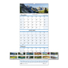 Ring Panel Link Filters Economy: Recycled Scenic Landscapes Three-Months/Page Wall Calendar, 12.25x26, 2018-2020