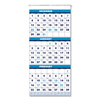 House Of Doolittle Recycled Three-Month Format Wall Calendar, 12.25 x 26, 14-Month, 2020-2022 HOD 3640