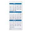 Ring Panel Link Filters Economy: Three-Month Academic Wall Calendar, 8 x 17, 14-Month (June-July), 2018-2019