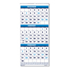 Ring Panel Link Filters Economy: Recycled Three-Month Format Wall Calendar, 8x17, 14-Month (Dec.-Jan.) 2018-2020