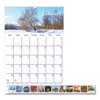 Clean and Green: Recycled Scenic Beauty Monthly Wall Calendar, 12 x 16 1/2, 2019