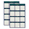 Ring Panel Link Filters Economy: Recycled 4 Seasons Reversible Business/Academic Wall Calendar, 24x37, 2018-2019