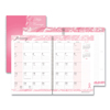 Ring Panel Link Filters Economy: Recycled Breast Cancer Awareness Monthly Planner/Journal, 7 x 10, Pink, 2019