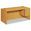 "HON HON® 10500 Series ""L"" Workstation Single Pedestal Desk HON10583RCC"