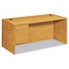 """Pedestal Desks: HON® 10500 Series """"L"""" Workstation Single Pedestal Desk"""