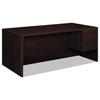 """Pedestal Desks: HON® 10500 Series™ """"L"""" Workstation Single Pedestal Desk with 3/4 Height Pedestal"""
