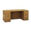 Pedestal Desks: HON® 10500 Series™ Bow Front Double Pedestal Desk with Full-Height Pedestals