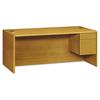 Pedestal Desks: HON® 10700 Series™ Single Pedestal Desk with Three-Quarter Height Right Pedestal