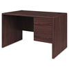 Pedestal Desks: HON® 10700 Series™ Single Pedestal Desk with Three-Quarter Height Right Pedestal