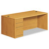 Pedestal Desks: HON® 10700 Series Single Pedestal Desk with Full-Height Pedestal on Left