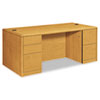 Ring Panel Link Filters Economy: HON® 10700 Series Double Pedestal Desk with Full-Height Pedestals