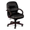 leatherchairs: HON® 2190 Pillow-Soft® Wood Series Managerial Mid-Back Swivel/Tilt Chair