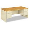 Pedestal Desks: HON® 38000 Series™ Double Pedestal Desk