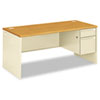Pedestal Desks: HON® 38000 Series Single Pedestal Desk