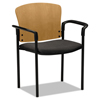 chairs & sofas: HON® Pagoda® 4091 Wood Back Stacking Guest Chair with Arms