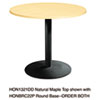 table bases: HON® Single Column Hospitality Base